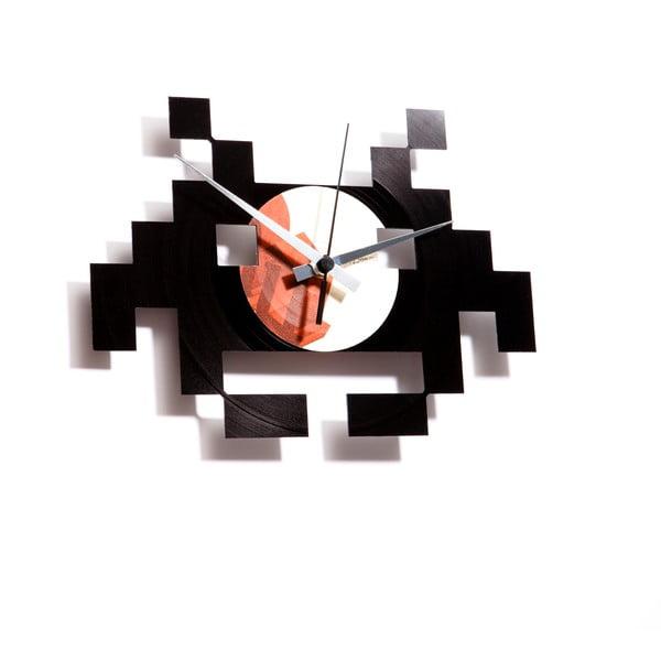 Vinylové hodiny Space Invaders