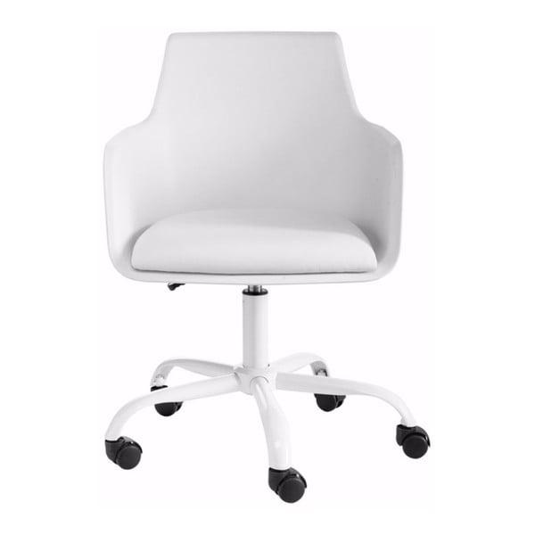 Bílá nastavitelná kancelářská židle Støraa Leslie