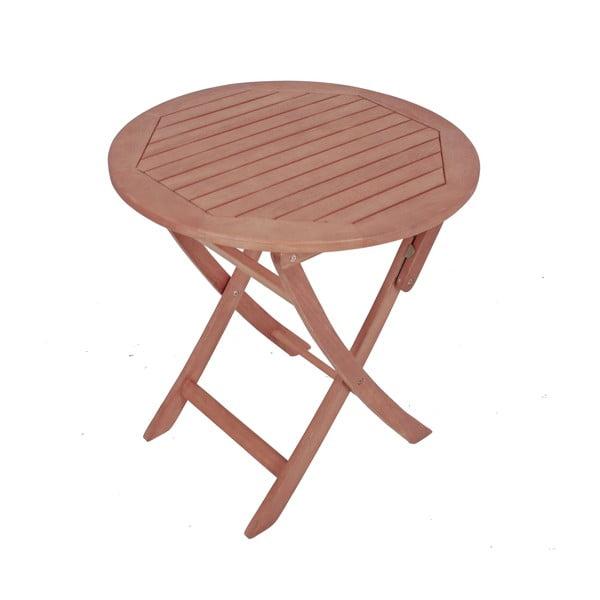 Zahradní skládací stůl z eukalyptového dřeva ADDU Stockholm, Ø70cm