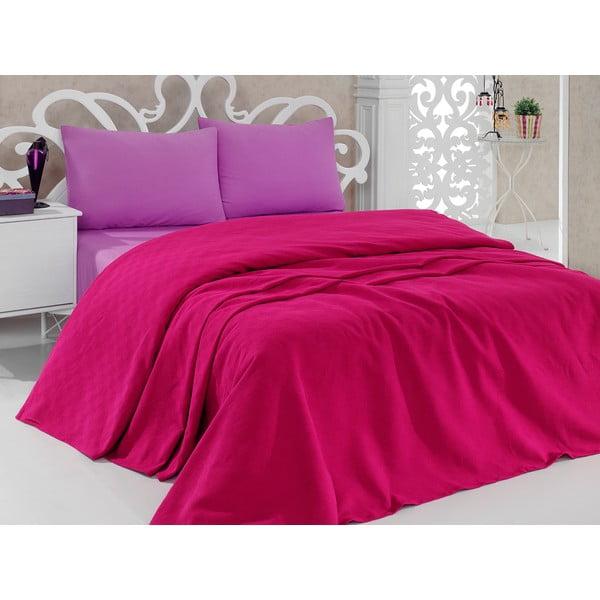 Pique Magenta ágytakaró, 200 x 240 cm