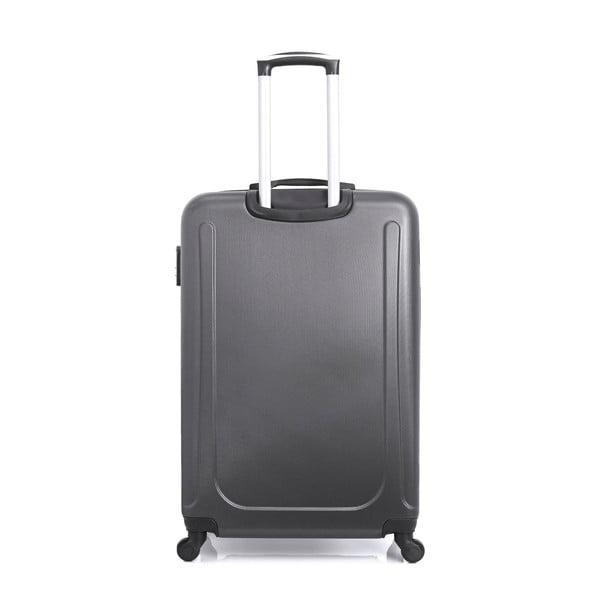 Tmavě šedý cestovní kufr na kolečkách Hero Ioulia, 60 l