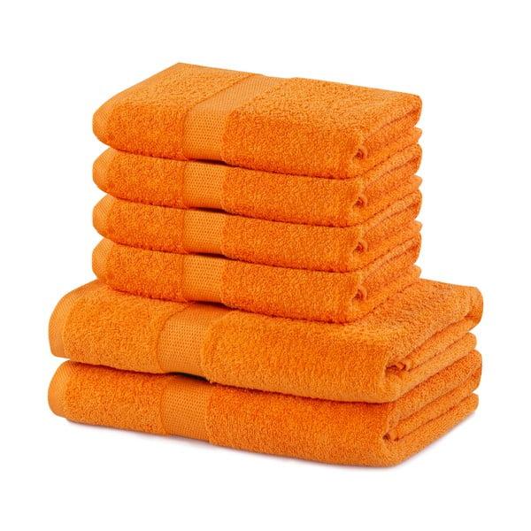 Set 6 prosoape din bumbac DecoKing Marina, portocaliu