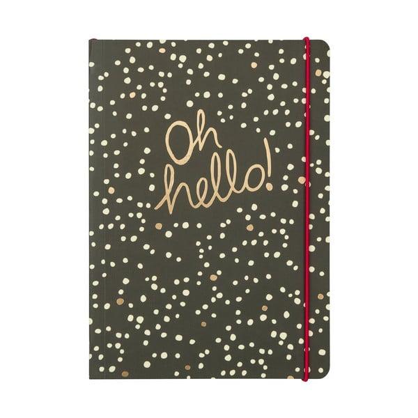 Linkovaný zápisník Portico Designs Hello, 160stránek