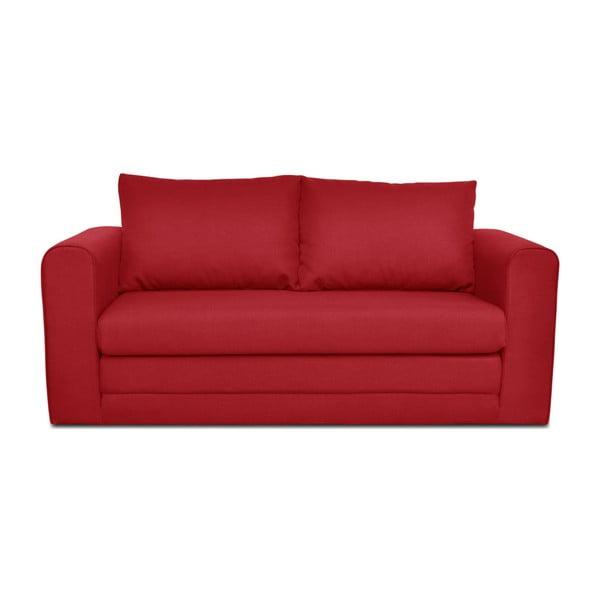 Czerwona 3-osobowa sofa rozkładana Cosmopolitan design Honolulu