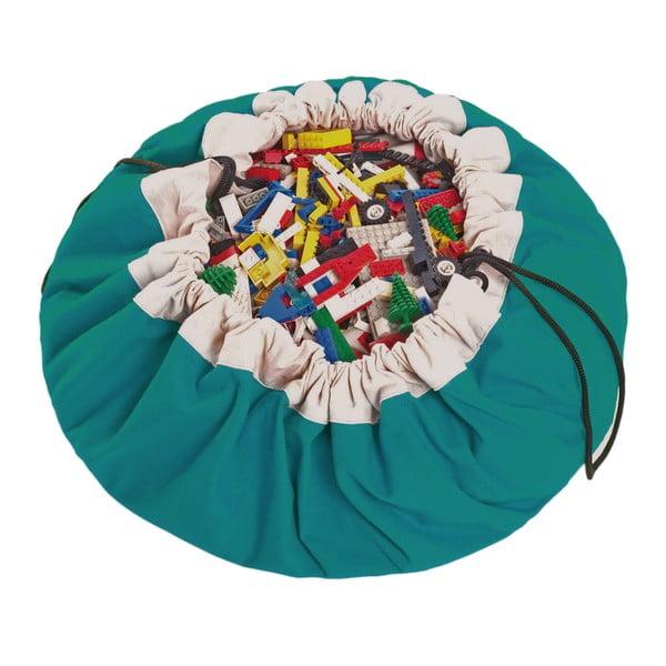 Hrací podložka a pytel na hračky v jednom Play & Go Classic Turquoise