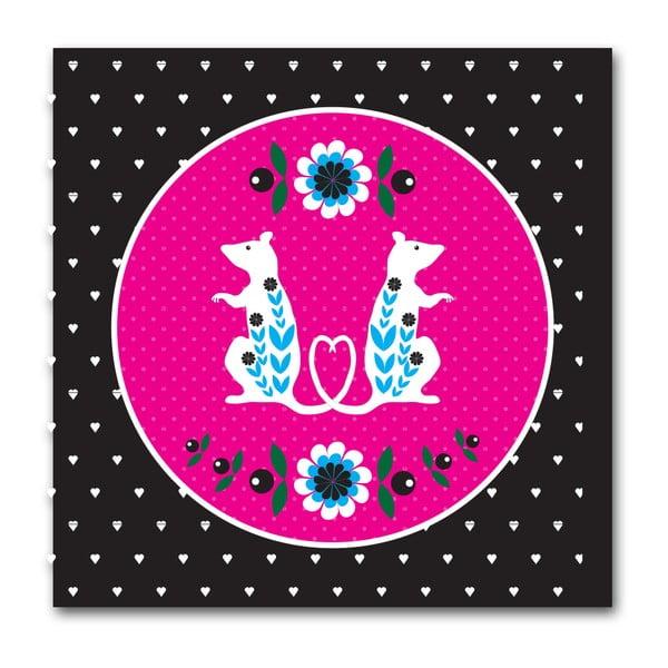 Plakát Potkánci růžová
