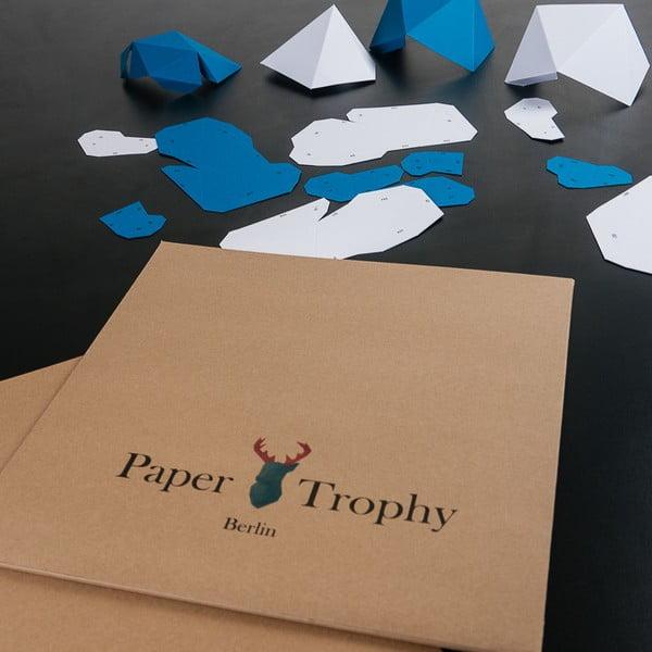 Papírová trofej Jelen XL, bílý
