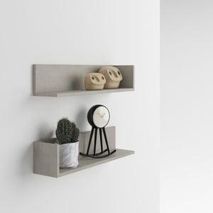 Set 2 rafturi de perete MobiliFiver Menaci, cu aspect de beton