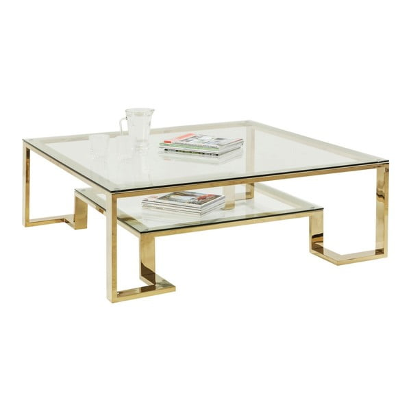 Skleněný konferenční stolek Kare Design Gold Rush