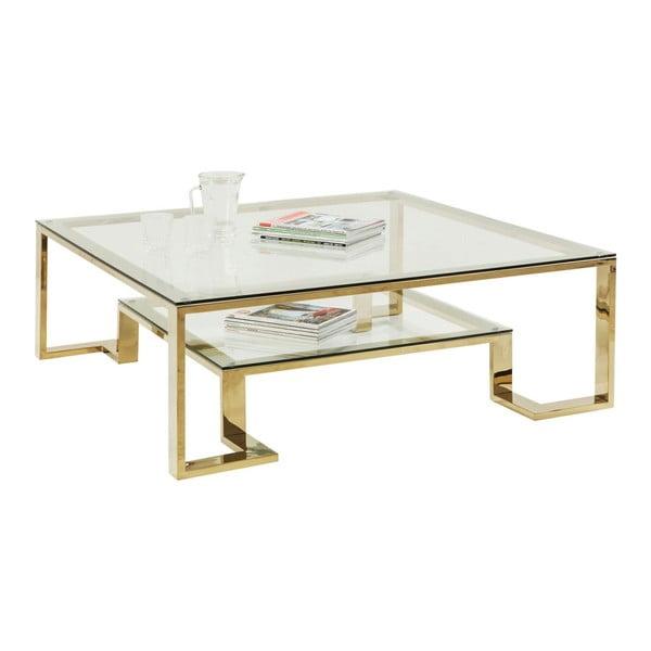 Sklenený konferenčný stolík Kare Design Gold Rush
