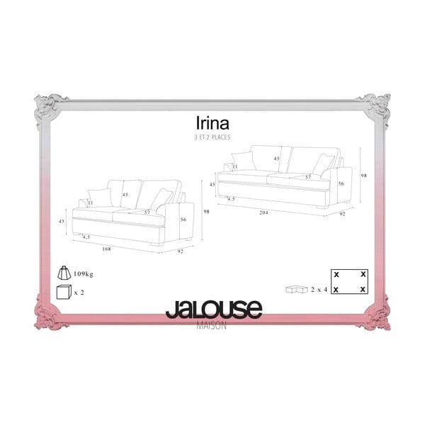 Dvoudílná sedací souprava Jalouse Maison Irina, růžová