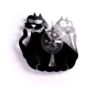 Vinylové hodiny Cats