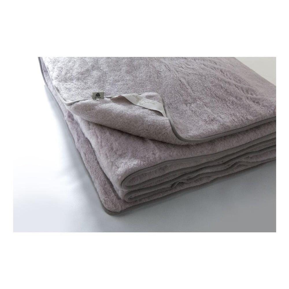 Šedá deka z merino vlny Royal Dream Greys, 220 x 200 cm