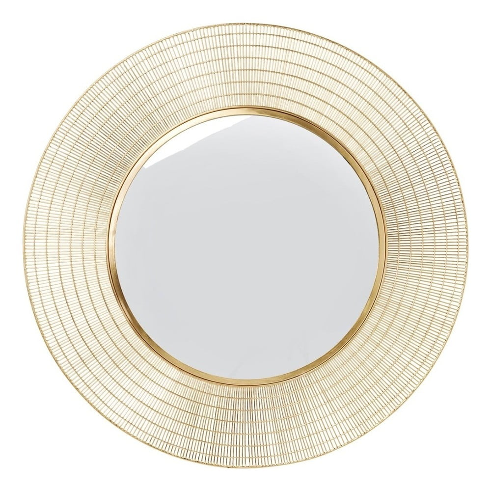 Zrcadlo zlaté barvy Kare Design Nimbus, ⌀ 90 cm