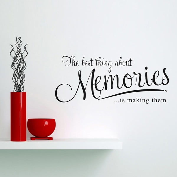Dekorativní samolepka Memories, 31x72 cm