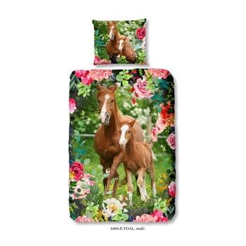 Lenjerie de pat din bumbac pentru copii Good Morning Foal, 140 x 200 cm de la Good Morning