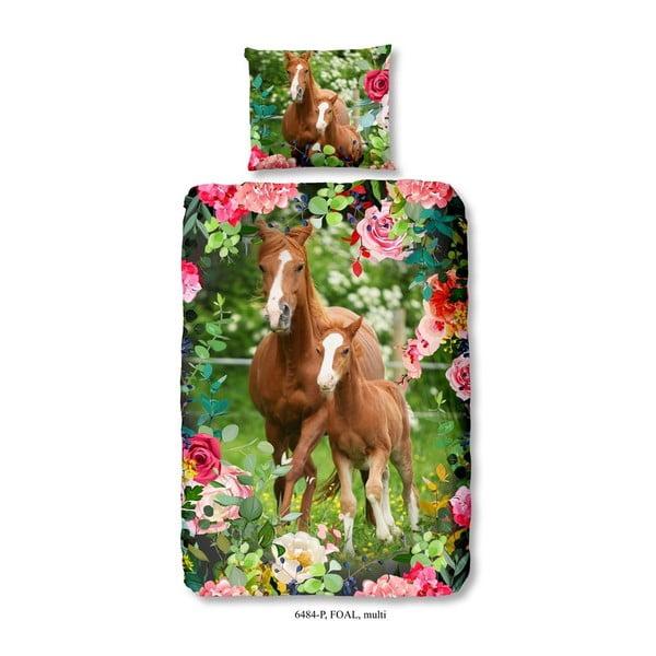 Foal gyerek pamut ágyneműhuzat, 140 x 200 cm - Good Morning