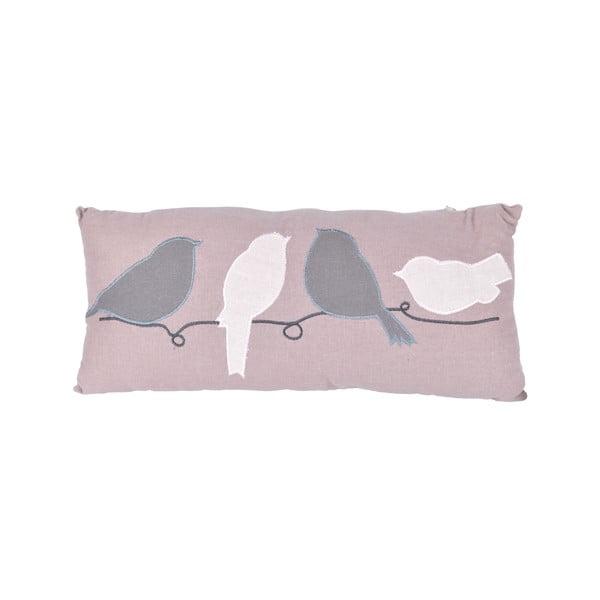 Polštář Ptáčci v řadě, 40x20 cm