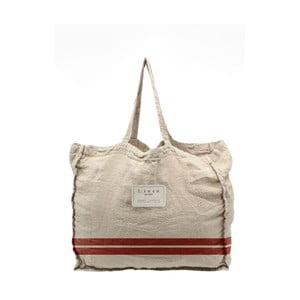 Látková taška Linen Couture Red Stripes, šířka 50 cm
