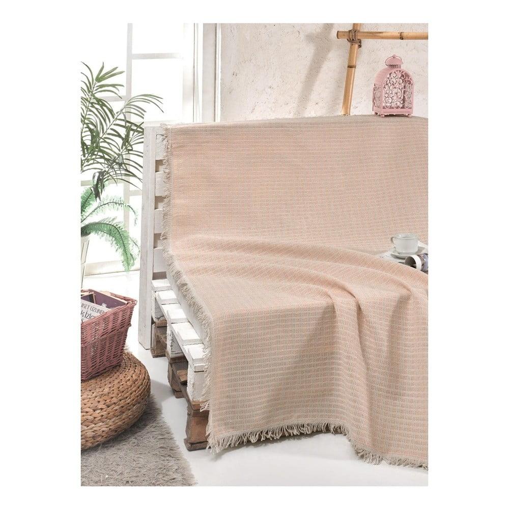 Bavlněný přehoz přes postel Cizgill Powder, 180 x 220 cm