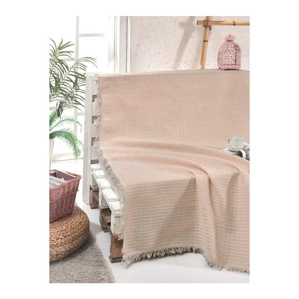 Cuvertură pat din bumbac Cizgill Powder, 180 x 220 cm