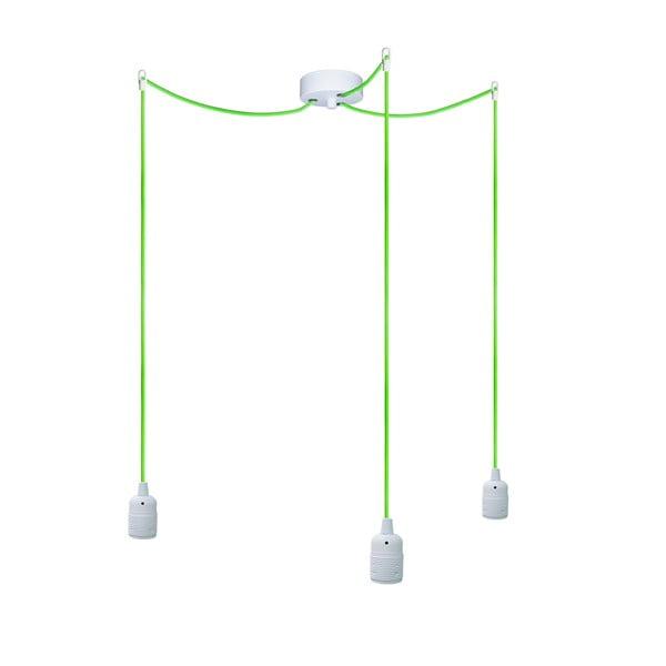 Tři závěsné kabely Uno, zelený/bílý