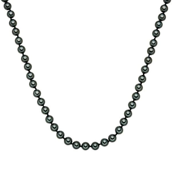 Perlový náhrdelník Muschel, zelené perly 8 mm, délka 50 cm