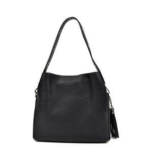 Černá kožená kabelka Isabella Rhea Edoardo