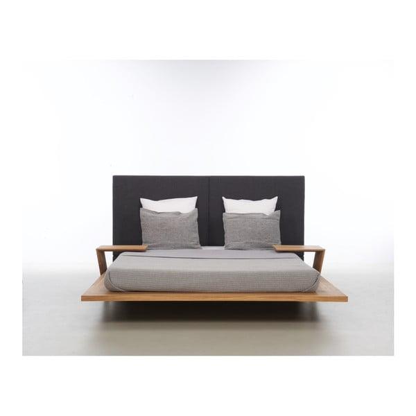 Postel z olejovaného dubového dřeva Mazzivo Mood 2.0, 140x220cm