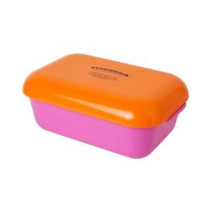Chladící svačinový box Frozzypack Summer Edition, cerise/orange
