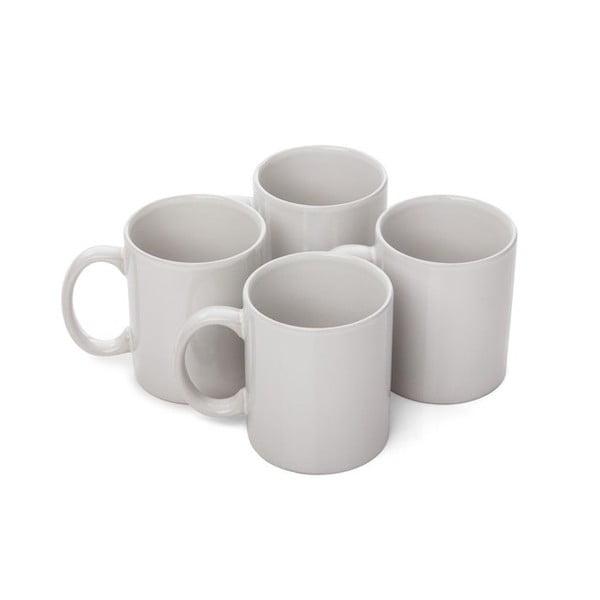 Set 4 căni din ceramică Sabichi, 320 ml, alb