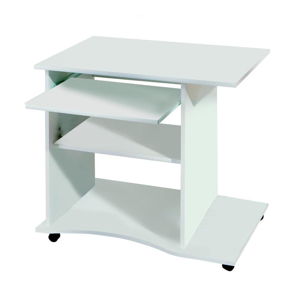 Bílý psací stůl na kolečkách 13Casa Office