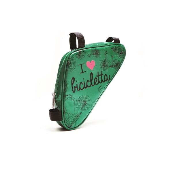 Taštička na kolo I ♥ Bicicleta, zelená