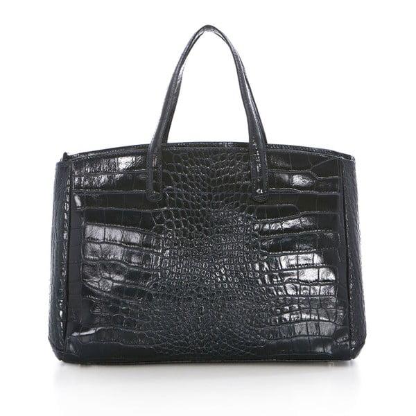 Tmavě šedá kožená kabelka Federica Bass Eris