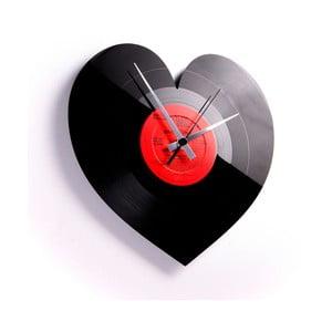 Vinylové hodiny Heart
