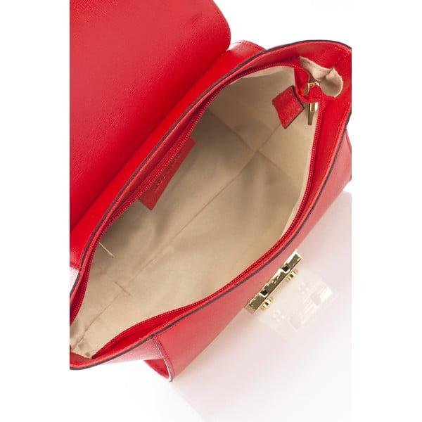 Kožená kabelka Saffiane, červená