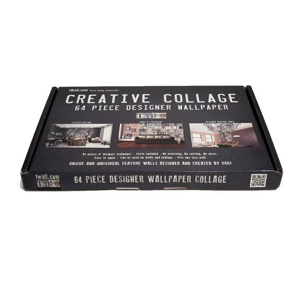 Kreativní koláž Typo Grey