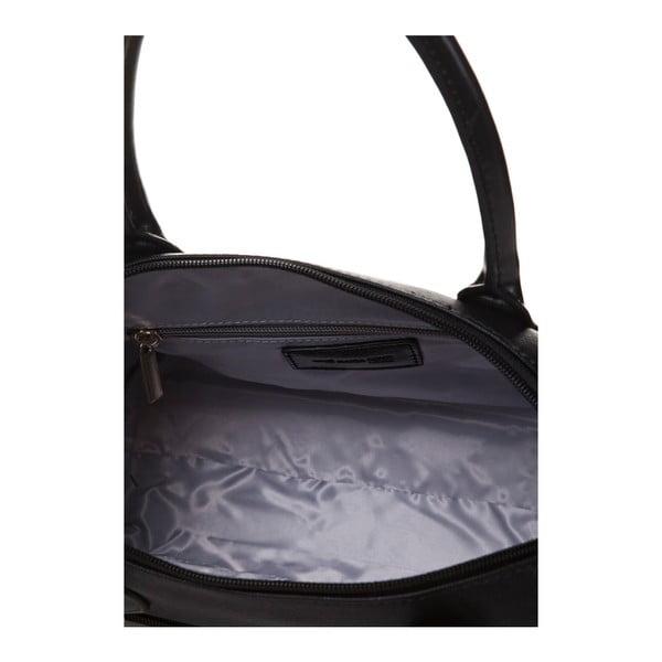 Kožená kabelka do ruky Marta Ponti Classy, černá