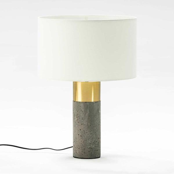 Stolní lampa s betonovou základnou a detaily ve zlaté barvě bez stínítka Thai Natura, výška38cm