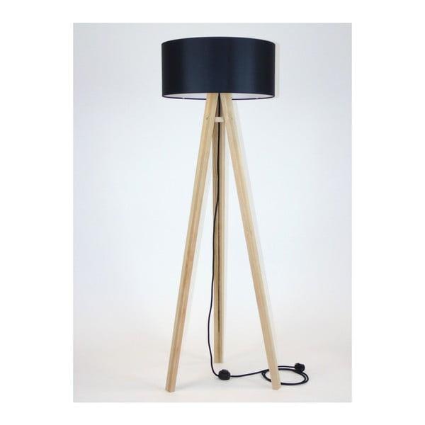 Wanda állólámpa fekete lámpabúrával és fekete kábellel - Ragaba