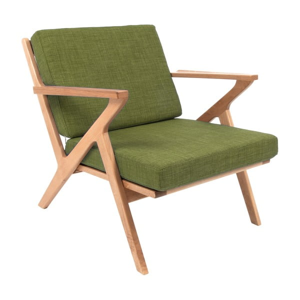 Křeslo Present Time Rest Oak Moss Green