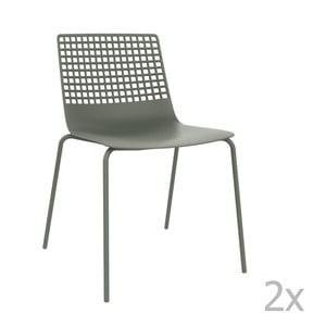 Sada 2 šedých  zahradních židlí Resol Wire