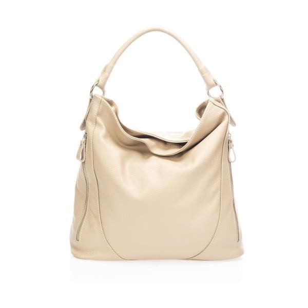 Béžová kožená kabelka Markese Rodrick
