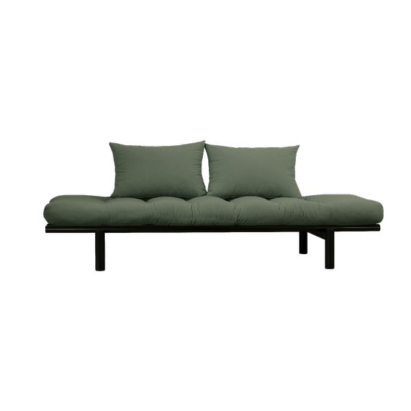 Pohovka so zeleným poťahom Karup Design Pace Black/Olive Green