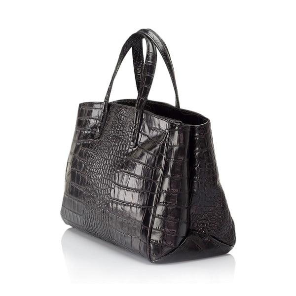Černá kožená kabelka Lisa Minardi Magnata