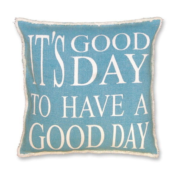 Polštář Good Day 45x45 cm, modrý