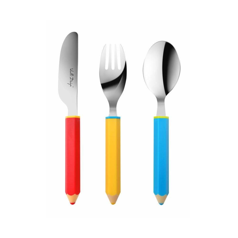 3dílná sada dětských příborů Vialli Design Pencil Vialli Design