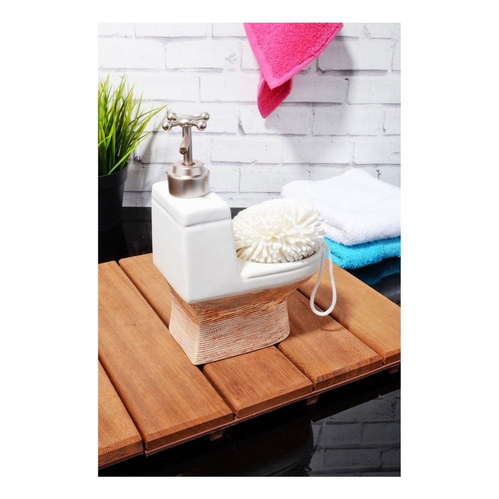 Kameninový dávkovač na mýdlo ve tvaru toaletní mísy Flush