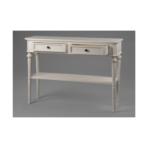 Konzolový stolek se dvěma zásuvkami Leonie