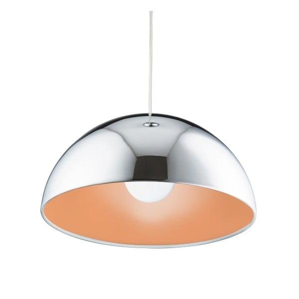 Stropní svítidlo Searchlight Domas, chromovaná/oranžová